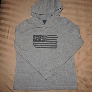 Boys Polo Ralph Lauren Mesh Cotton Hoodie USA L